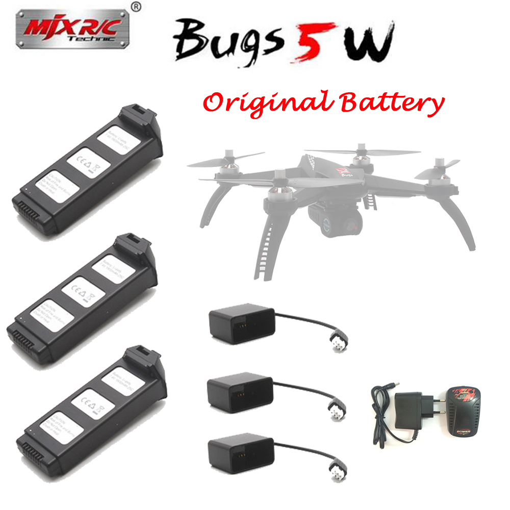 Original MJX Bugs 5W 7.4V 1800 MAH Li-Po Battery for MJX B5W Brushless GPS RC Drone Spare Parts Accessories Battery free shipping mjx x101 2 4g 4 channels r c quadcopter rc drone 7 4v 1200 mah li po battery