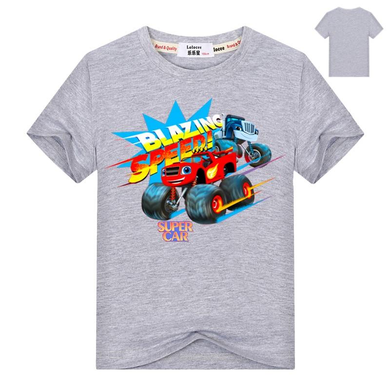 Fashion Baby Boys tshirt Children t shirts Blouses Kids Blazing Tops Cartoon Car Print Clothing Infants Costume Party Shirt 4