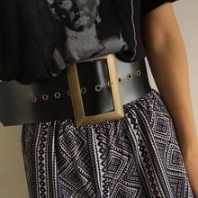 Mới Thời Trang Chất Lượng Lớn Rộng pin Vênh Cho Phụ Nữ Phụ Nữ Antique Dress Faux Leather Belt Dây Đai Thắt Lưng Vành Đai