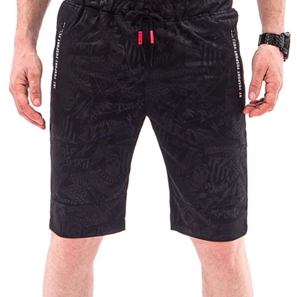New Hot Fashion Men Overalls Skull Casual Pocket Beach Work Casual Short Trouser Shorts Pants For Male Drop Shipping