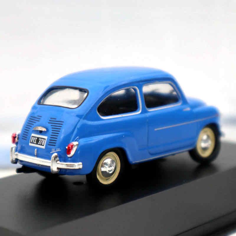 Fiat 600 D blau 1962 Blister 1:43 Salvat Ixo Modellauto