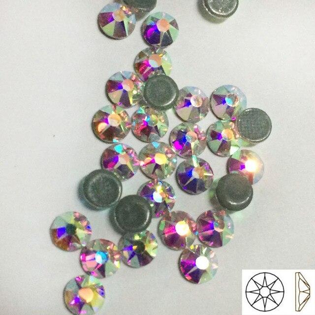 YANRUO Adhesive Rhinestones 2088 Crystals AB SS20 (8 big+8 small) Strass  Cristal Heat Iron On Hotfix Rhinestones Applique DIY c628b0934ffa