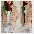 Зимняя куртка женщины высокий воротник тонкий Ватник 5 цвета новое прибытие 2016 зима женщины тонкий пиджак куртка 706