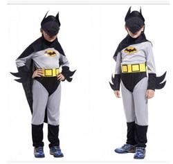 Free shipping halloween batman costume font b superhero b font costume 110 140cm 3 pcs jumpsuit.jpg 250x250
