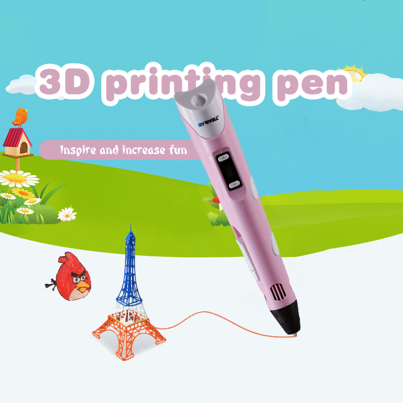 Myriwell 2nd 3D Doodler Pen Low-Heat For Making Doodle Arts Crafts With Multi-Color PLA Filament (3color*3m) Paper Model 20 Pcs