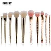 Maange Beauty Women S Fashion 10pcs Cosmetic Makeup Brush Makeup Brush Eyeshadow Brush