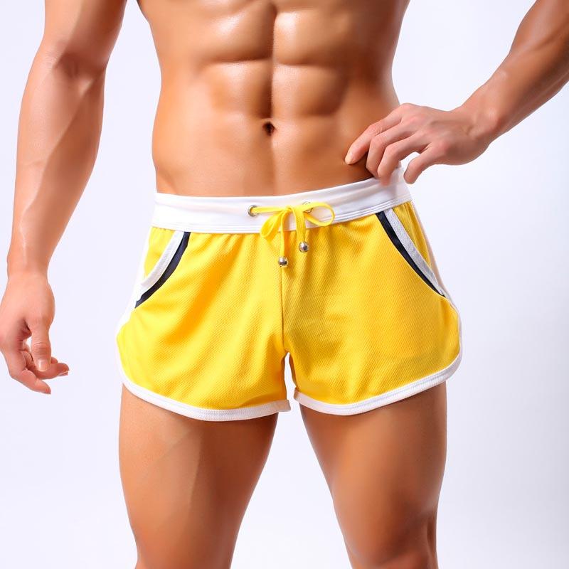 Men Swim Shorts 2018 Summer Beach Boxer Trunks Sexy Man Breathable Comfort Bodybuilding Shorts Drawstring Loose Mens Swimwear