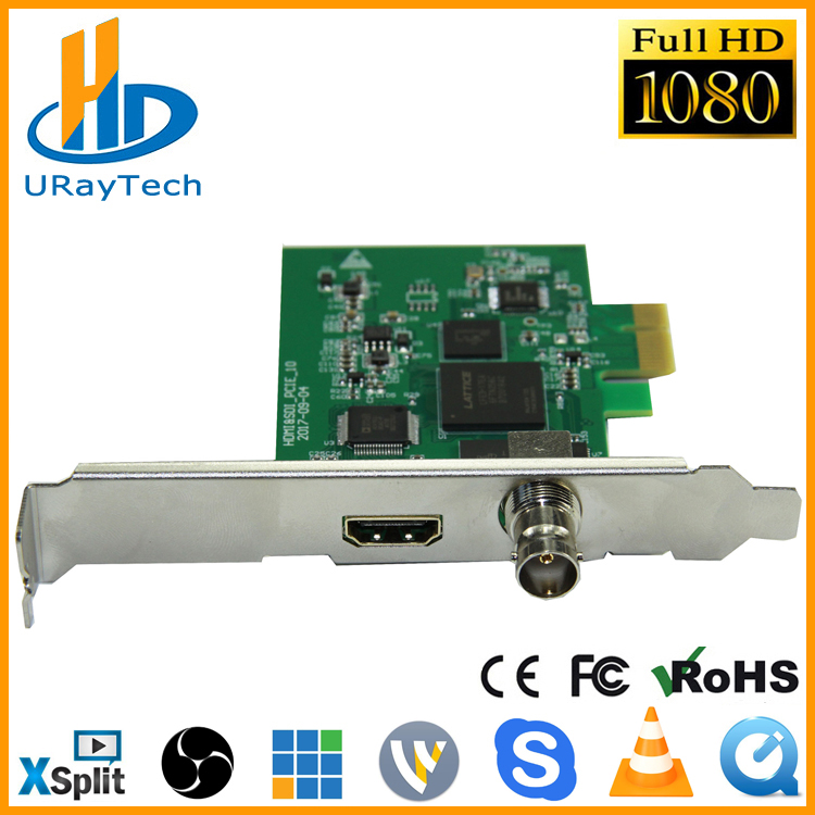 Full HD 1080P HDMI SDI לכידת כרטיס PCIe משחק לכידת PCI-E HD אודיו אודיו Grabber HDMI / SDI ל PCI PCIe עבור Windows, לינוקס