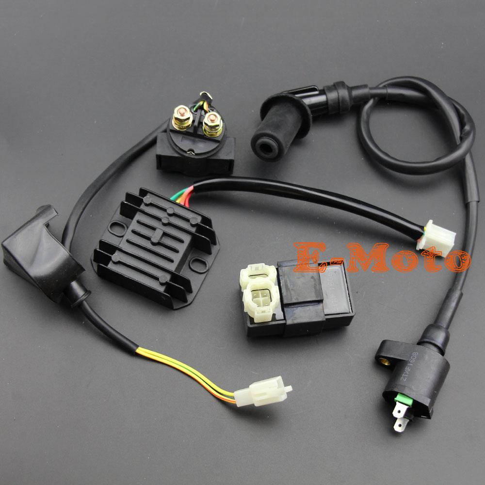 small resolution of ignition coil 6 pin cdi box starter solenoid relay regulator set for 50 125 150cc gy6 atv go kart scooter moped jcl nst taotao in motorbike ingition from