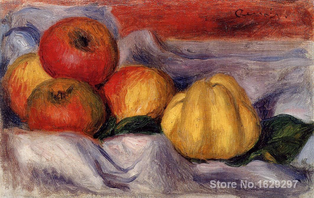 canvas oil paintings Still Life with Apples by Pierre Auguste Renoir Reproduction art Hand-painted High qualitycanvas oil paintings Still Life with Apples by Pierre Auguste Renoir Reproduction art Hand-painted High quality