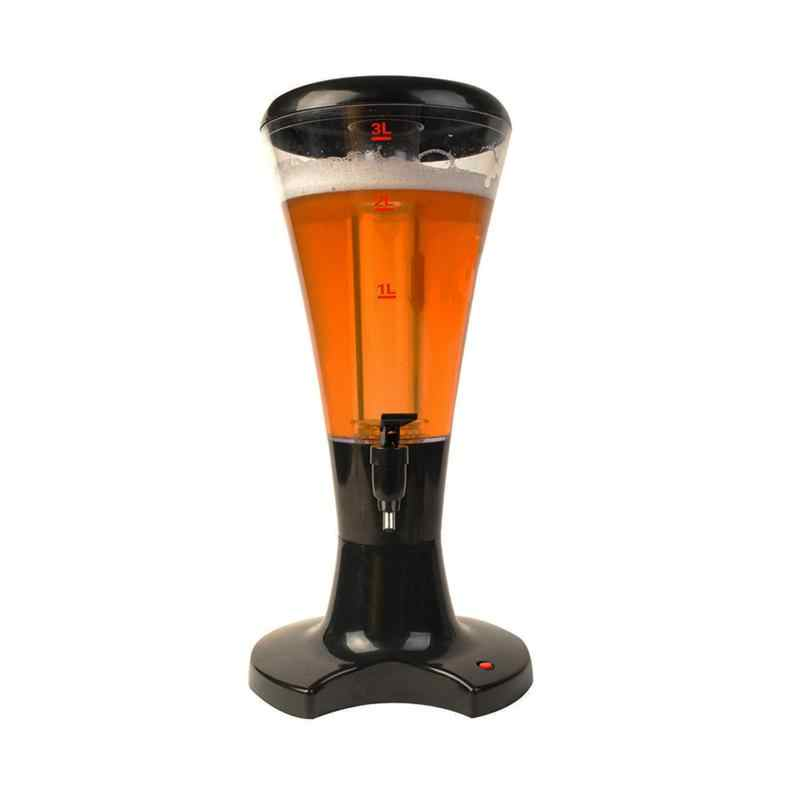 البيرة برج 3L منضدية النبيذ البيرة برج المشروبات عصير موزع مع LED الملونة التسلق أضواء جديد البيرة موزع