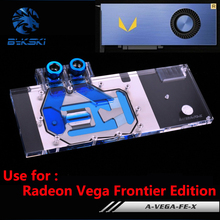 BYKSKI Full Cover GPU Card Radiator Block use for AMD Radeon RX Vega Frontier Edition 56/64 Water Radiator Block RGB Light