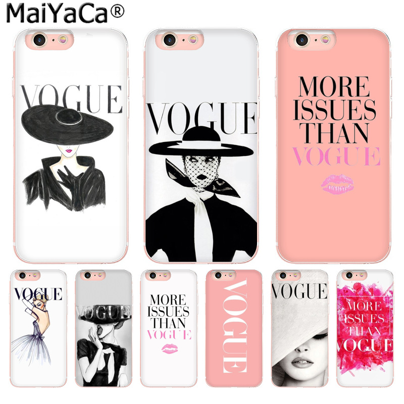 MaiYaCa Fashion Woman More Issues than Vogue New Arrival Fashion phone case cover for iPhone 8 7 6 6S Plus X 10 5 5S SE 5C 4 4S