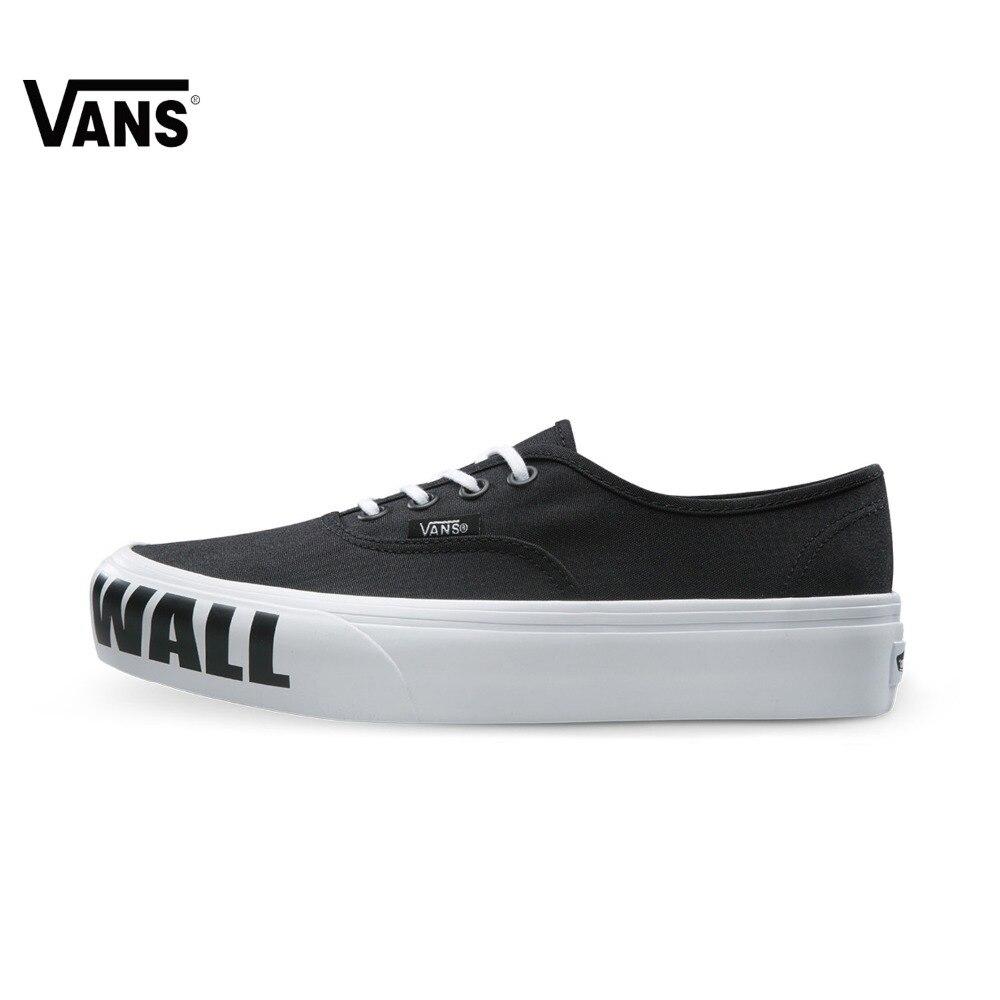 Original Vans New Arrival Letter Low-Top Women's Skateboarding Shoes Sport Shoes Canvas Shoes Sneakers