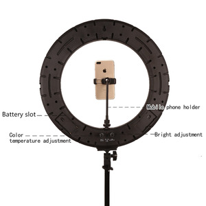 """Image 5 - GSKAIWEN 18""""60W LED Beauty Light Eyebrow Tattoo Lamp Makeup Ring Light Dimmable Photography Studio Video Light with Battery Slot"""