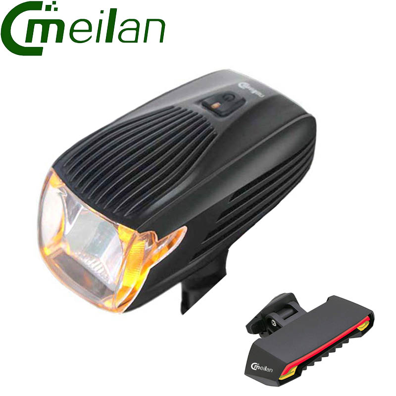 Bike light meilan X1 led flashlight Front Light Smart Bicycle Light Rear laser light meilan x5 zk20 cree xml t6 4000lm bike flashlight led bike light torch bicycle light with silicone strap flashlight holder for cycling