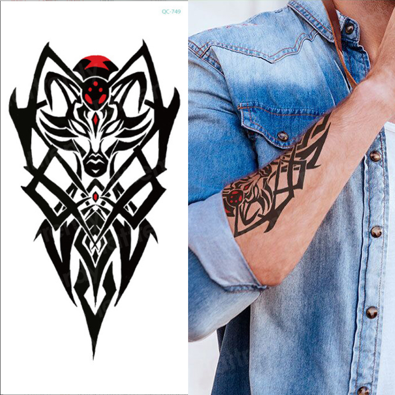 temporary tattoo sticker for men shoulder tattoos black sketches tattoo designs shoulder arm sleeve tattoo fake boys body art 1