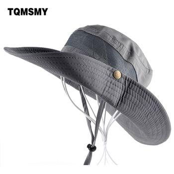 Sun Hat men Bucket Hats women Summer Fishin Cap Wide Brim UV Protection Flap Hat Breathable mesh bone gorras Beach hat men
