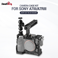 SmallRig A7M3 Camera Cage Kit for Sony A7RIII / A7III Camera With Handle Grip Ballhead Clamp Upgrade Version A7 III Camera Cage цена