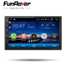 Funrover Android 8,0 2 din универсальный dvd плеер автомобиля gps навигации автомобиля для стерео-Радио автомобильной видео streeing колеса управление RDS