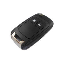 Remote 2 Buttons Flip Key Shell Case for GMC Volt CHEVROLET Cruze Aveo Lova Car Alarm Housing Spark Keyless Entry Fob Cover