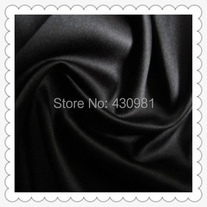 Image 3 - Großhandel 2 meter voll langweilig elastische satin stoff imitation seide material für ein stück kleid schwere schwarz satin spandex stoff