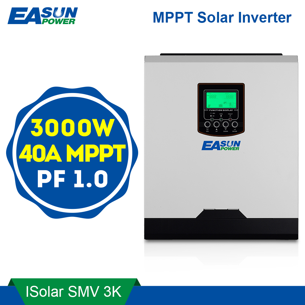 Easun Power 3000w Solar Inverter 220v 40a Mppt 3kva Pure Sine Wave Circuit Diagram In Addition 50hz Off Grid 24v Battery Charger Inverters Converters From Home