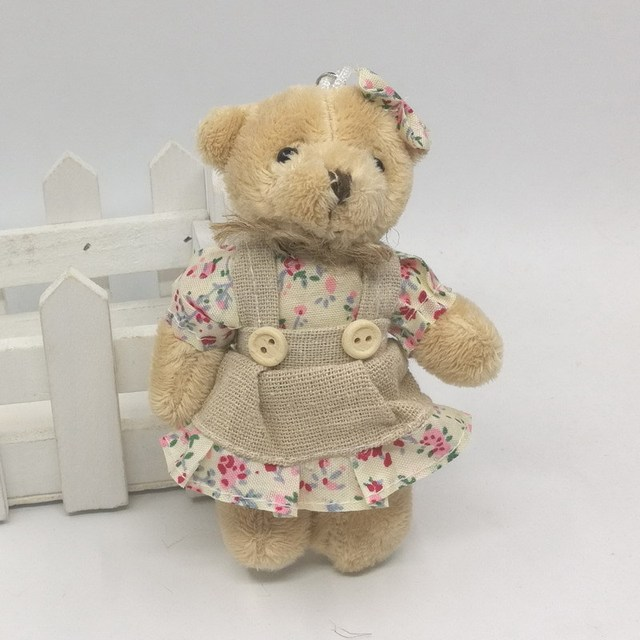 2PCS/LOT Kawaii Teddy Bear&Rabbit Couple Plush Toy Stuffed Animal Soft Doll Bears Stuffed Plush Pendant Wedding Gifts Uncategorized Decoration Stuffed & Plush Toys Toys