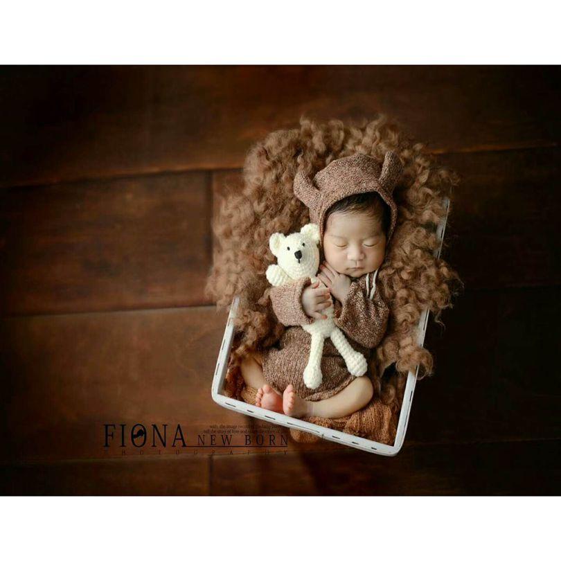 Cookie Plushy Wool Layer Newborn Baby Photography Props  Basket Stuffer