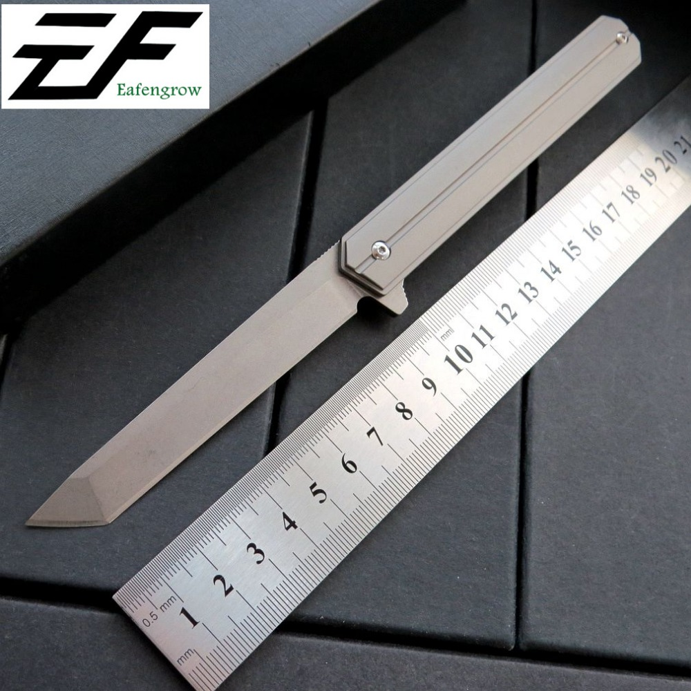 New Arrival EF219 Multi Colours Folding Knife D2 Steel Blade TC4 Titanium Alloy Handle Camping Outdoor Knives bestlead chinese peony pattern zirconia ceramics 4 6 knife chopping knife peeler holder