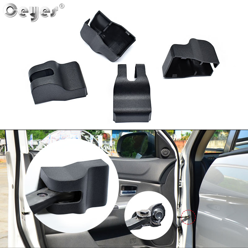 Ceyes Auto Accessories Door Lock Stopper Limiting Arm Covers Protect Stickers For Mitsubishi Lancer 10 ASX Outlander Car Styling