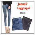 Free shipping Women warm cotton cashmere leggings Women winter thikened jeans look solid warm legging