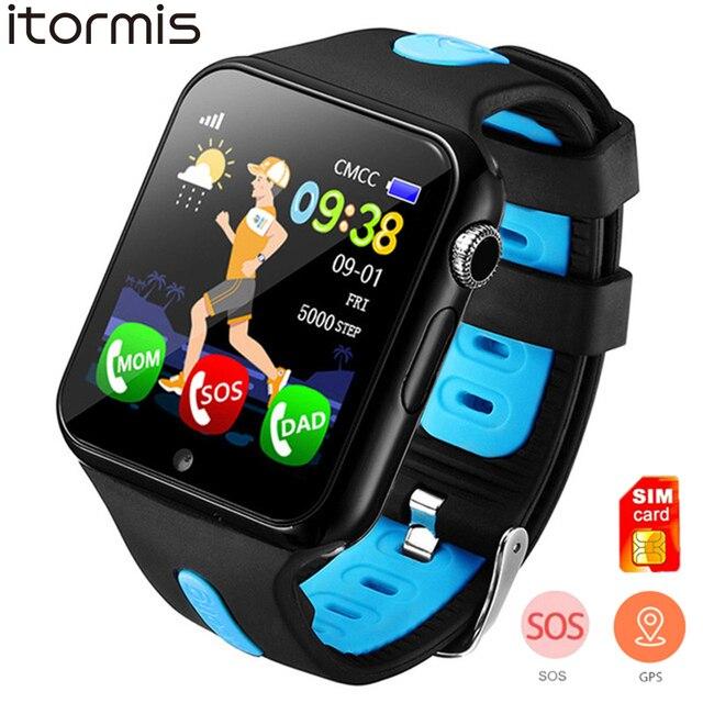 ITORMIS חכם שעון ילדי V5K ילד להקת GPS מסלול ספורט ילד Smartwatch תמיכה ה-SIM כרטיס מצלמה בטיחות טלפון תינוק שעונים
