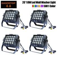 4pcs/Lot 20 x 18W RGBWA+UV 6IN1 Led Wall Washer Light,UV+RGBWA Led Wall Wash Waterproof Hi Quality Led Stage Light Heavy Weight
