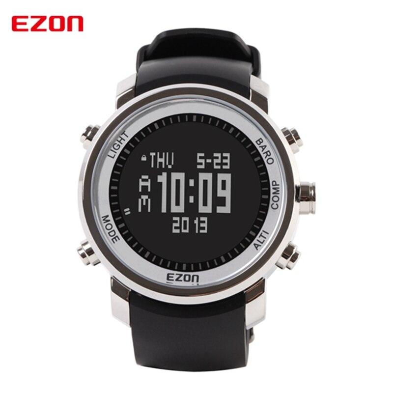 EZON Altímetro Barômetro Termômetro Bússola Previsão do tempo do relógio de Pulso Dos Homens Relógios Digitais Relógio Do Esporte de Escalada Caminhadas H506B01
