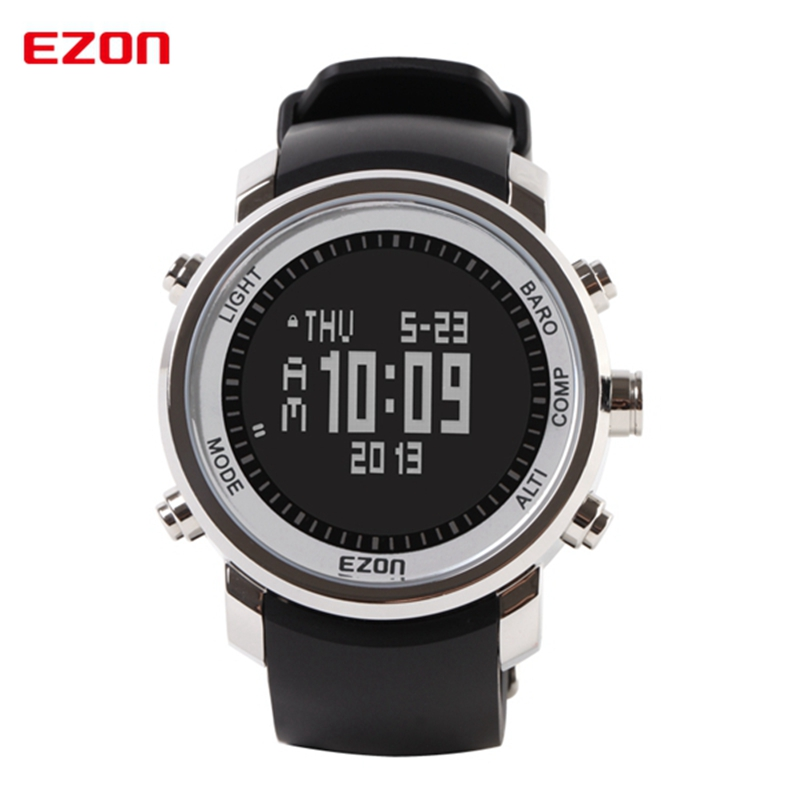 EZON Altimeter Barometer Thermometer Compass Weather Forecast Men Digital Watches Sport Clock Climbing Hiking Wristwatch H506B01 ezon multifunction sports watch montre hiking mountain climbing watch men women digital watches altimeter barometer reloj h009