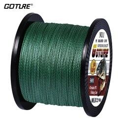 Леска плетеная Goture PE, мультифиламентная, 500 м, 4 нити, шнур для ловли карпа, для Пресноводной и морской рыбалки, 8-80 фунтов