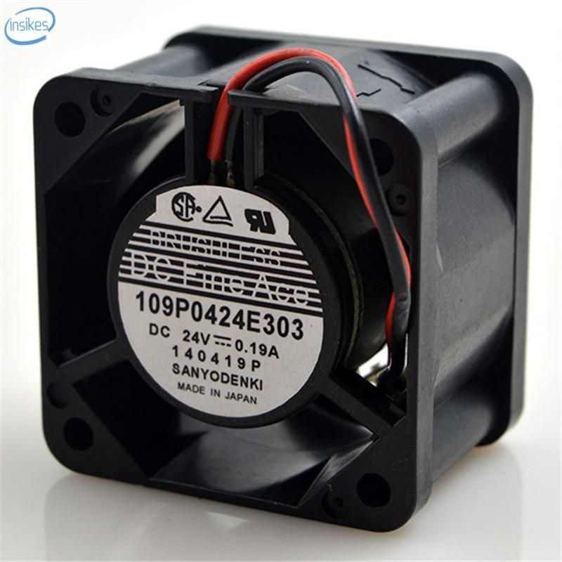 109P0424E303 2 Wires Large Air Volume Inverter Cooling Fan DC 24V 0.19A 4028 40*40*28mm 4CM