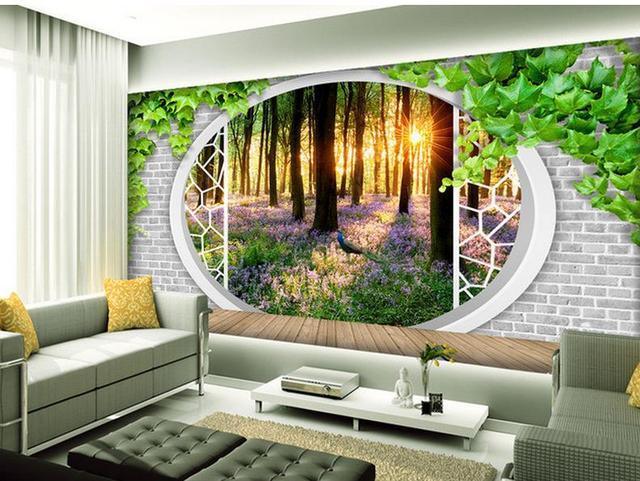 3d Natur Tapeten 3d Green Raum Zu Erweitern Die Grunen Wald Tv
