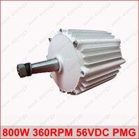 800 Вт 360 об./мин. 56vdc горизонтального ветра и гидро генератор/постоянный магнит сила воды dynamotor гидро Новая энергия