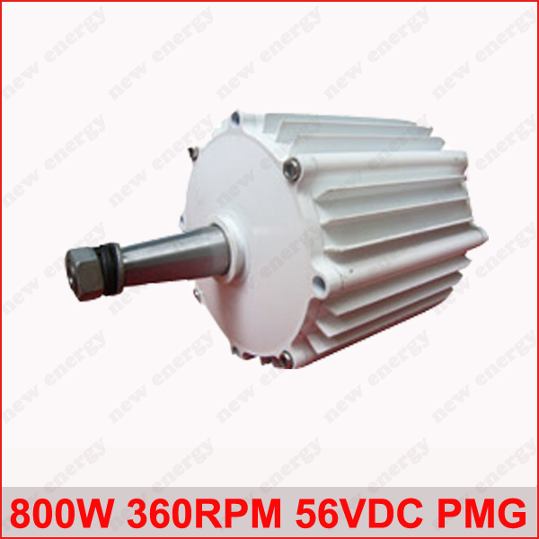 800W 360RPM 56VDC horizontal wind & hydro alternator/ permanent magnet water power dynamotor hydro turbine new energy