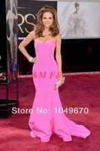 Delicate Pink Schatz Maria Menounos Academy Awards Kleider 2016 Promi Mermaid Roter Teppich F & M926
