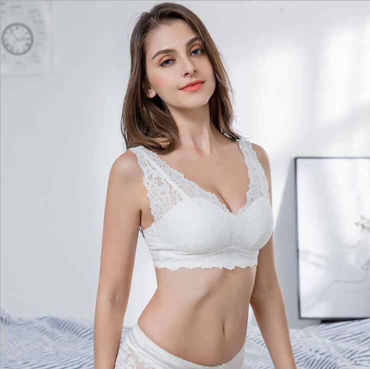 cf96ea6ad6 Beauty Back Sexy Lace Universal Bra Without Rims Breathable Comfort Back  Button Tube Top Sports Sleep