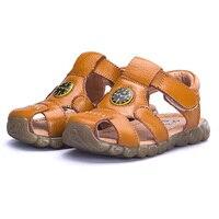 2020 yeni yaz çocuk plaj sandaletleri erkek moda hakiki deri ayakkabı kızlar için kaymaz çocuklar Sandalias saat kızlar ayakkabı|leather shoes for girls|sandals boyshoes for girls -
