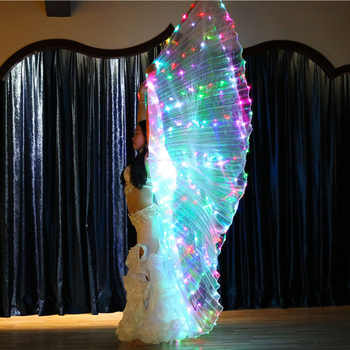 Luminous Flashing Color Light ISIS Angel Wing Led Butterfly Belly Dance Costume for Women Bellydance Performance Dance Accessory