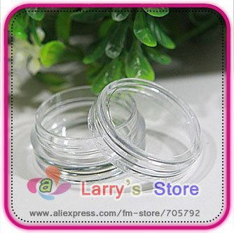 Free Shipping 80pcs/Lot Nail Art Glitter Dust Powder Empty Case Box Whole Sale Clear Pots Bottle Container 3g 3gram/Jar