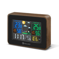Digoo DG TH8878 Wood USB Charge Wireless Weather Station Full Color Screen Digital Humidity Thermometer Outdoor