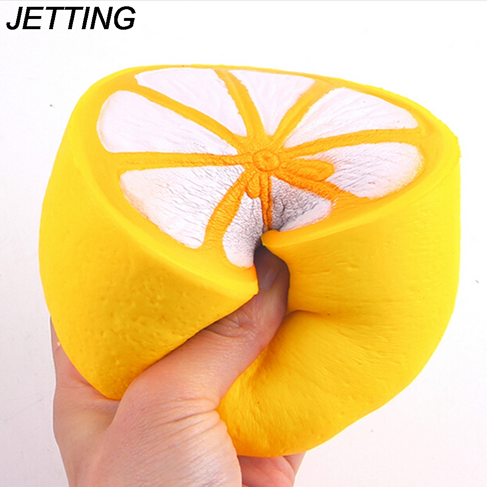 Squishy Wish : JETTING 11CM Jumbo squishy slow rising lemon Soft kawaii Cute fruit Decoration charm Scented ...