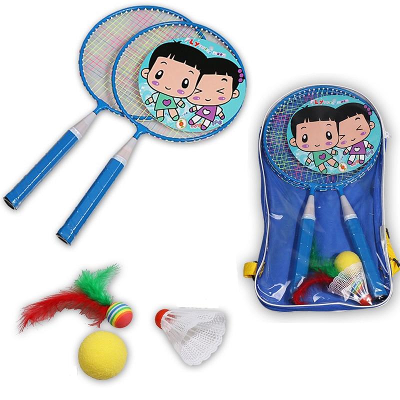1 Set Kids Badminton Rackets Children Battledore Badminton Sports Training Equipments With Shuttlecock Ball Packing Backpack Bag