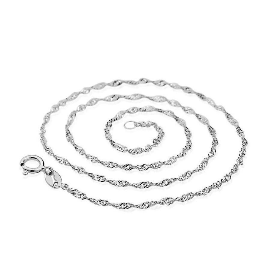 Necklace Water-wave Chain of High-end Women's Vintage Jewelry top 45CM Delicate